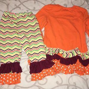 Matching Sets - Fall ruffle outfit